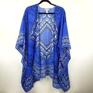 Catherines Blue Chiffon Kimono